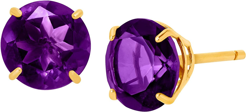 Round-Cut Stud Earrings 初回限定 10K Gold 高額売筋 in