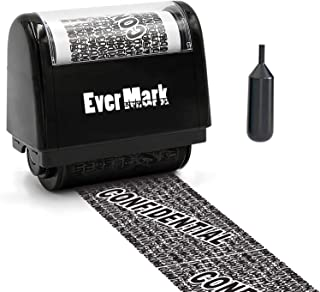 ID Protection Roller Stamp - Protect Your Personal Identity - Confidential Eraser Stamp, Theft Protection Stamp- Black