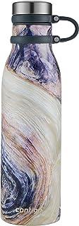 Contigo 2045468 Couture 真空绝缘不锈钢水瓶,567 毫升,蓝石色 Twilight Shell 20 OZ CTMTHRNCTR-20OZ