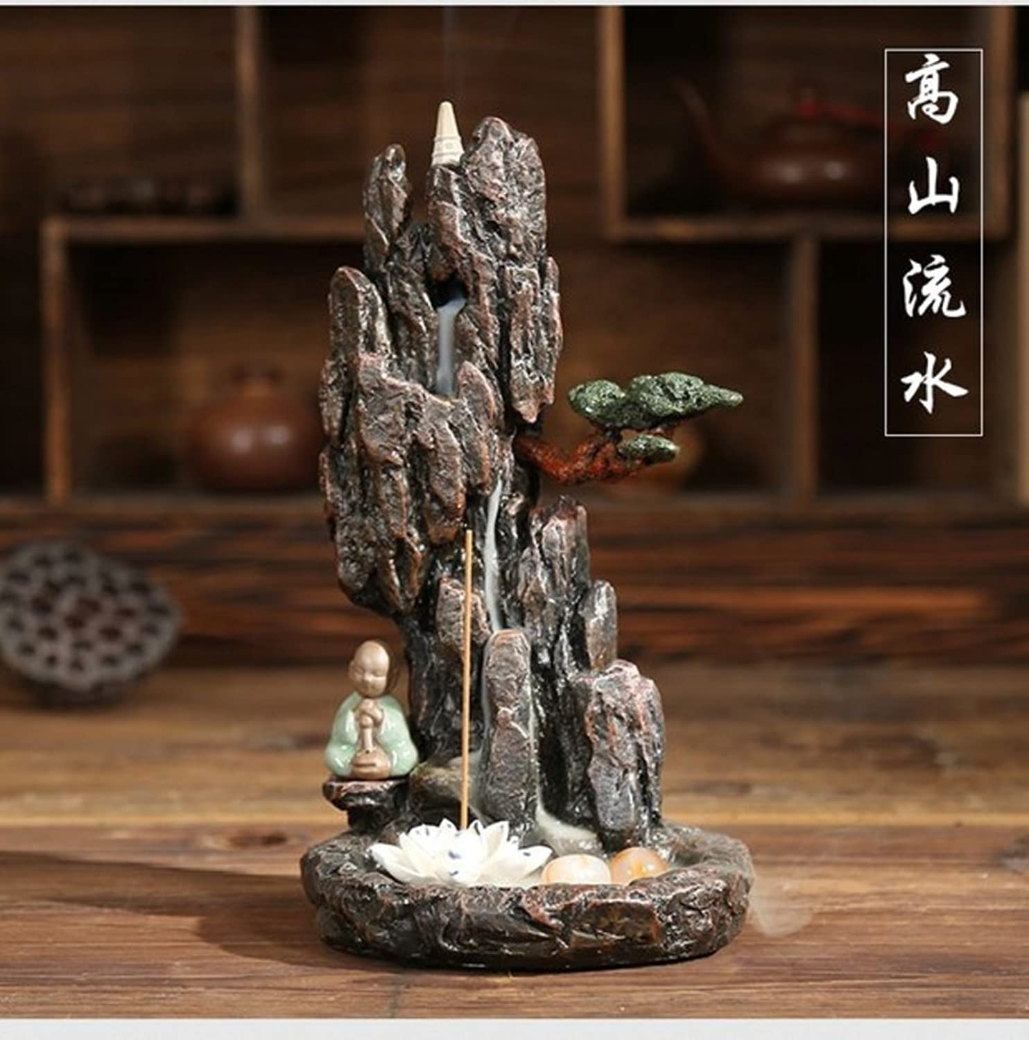 Back Mountain Water Creative Home Decoration Eaglewood Incense Burner-A