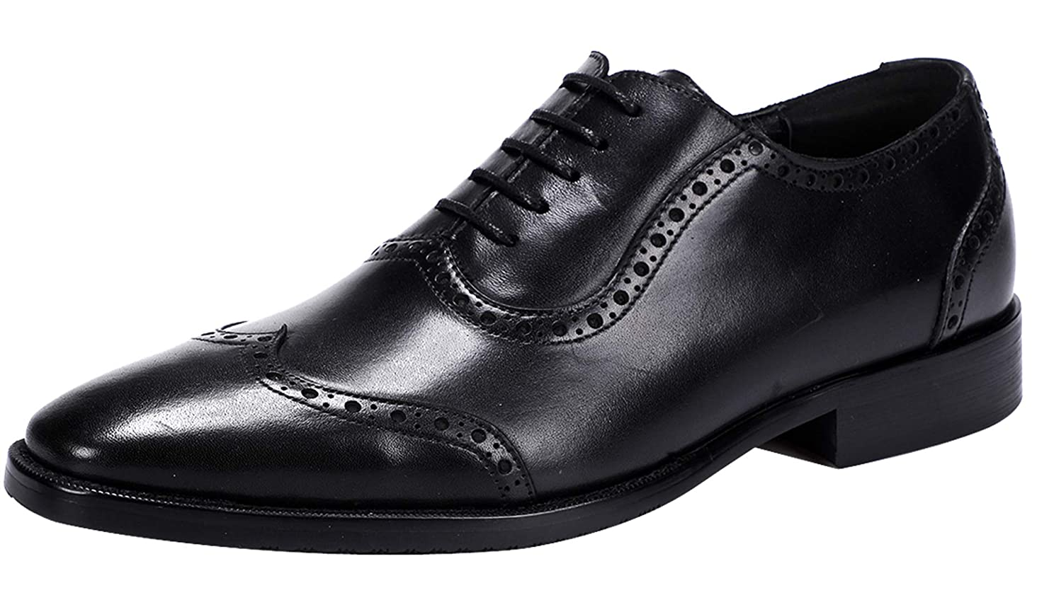 Men's Oxford Classic Wingtip Lace-up Formal Leather Dress Shoes