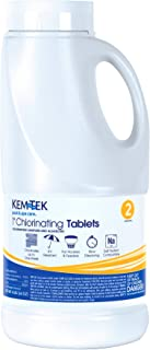 Kem-Tek 177 1-Inch Chlorinating Tablets for Pool and Spa, 4-Pound