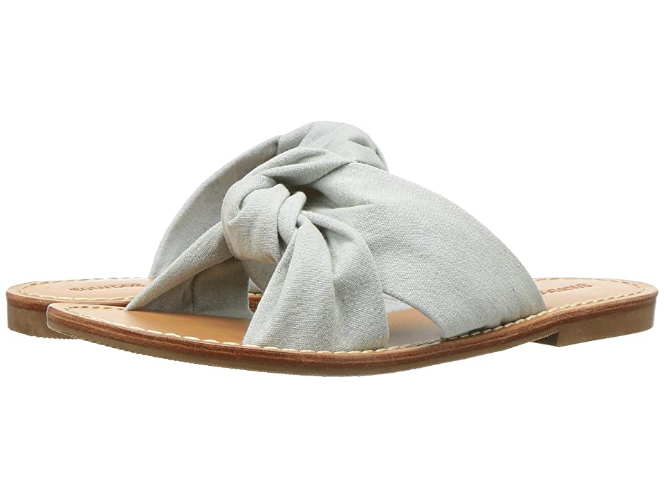 Soludos Knotted Slide Sandal (Chambray) Women