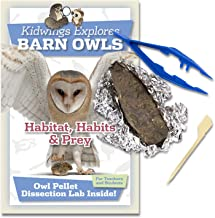 Barn Owl Pellet Dissection Kit for Kids Includes Tweezers and Bone Chart (Standard 10 Pack)