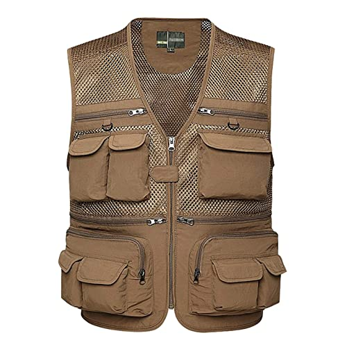 708ed60dc5e31 Gihuo Men s Summer Outdoor Work Safari Fishing Travel Vest with Pockets