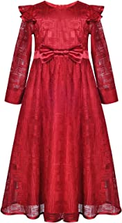 Girl Autumn Winter Elegant A-line Tunic Dress Holiday Outfits 4-12 Years