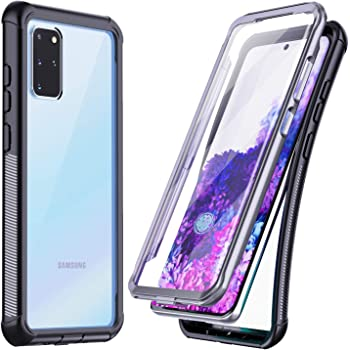 Temdan for Samsung Galaxy S20 Plus Case, Built-in Screen Protector Full Body Heavy Duty Shockproof Case Support Wireless Charging for Samsung Galaxy S20 Plus 5G 6.7 inch 2020 Release (Black)