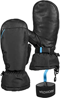 Wildhorn Tolcat Snow Mittens - US Ski Team Official Supplier - Hydro-Tex Water Resistant Genuine Leather Ski Mittens