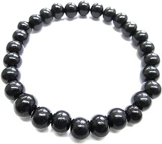 Black Kokutan Ebony Wood Bracelet Japanese Juzu Rosary Prayer Beads Handmade in Kyoto UDA50