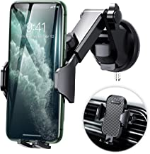 DesertWest Cell Phone Holder, Long Arm Car Phone Mount Dashboard Windshield Air Vent Universal Compatible with iPhone 11 Pro X XS Max XR 8 7 6+, Samsung Galaxy S10 S10+ S10e S9 S8 S7 and More