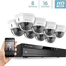 Amcrest 2MP 1080P Security Camera System, w/ 4K 16CH (8-Port PoE) NVR (8) x 2-Megapixel 3.6mm Wide Angle Lens Weatherproof Metal Dome PoE IP Cameras, NV4116E-HS-IP2M-851EW8 (White)