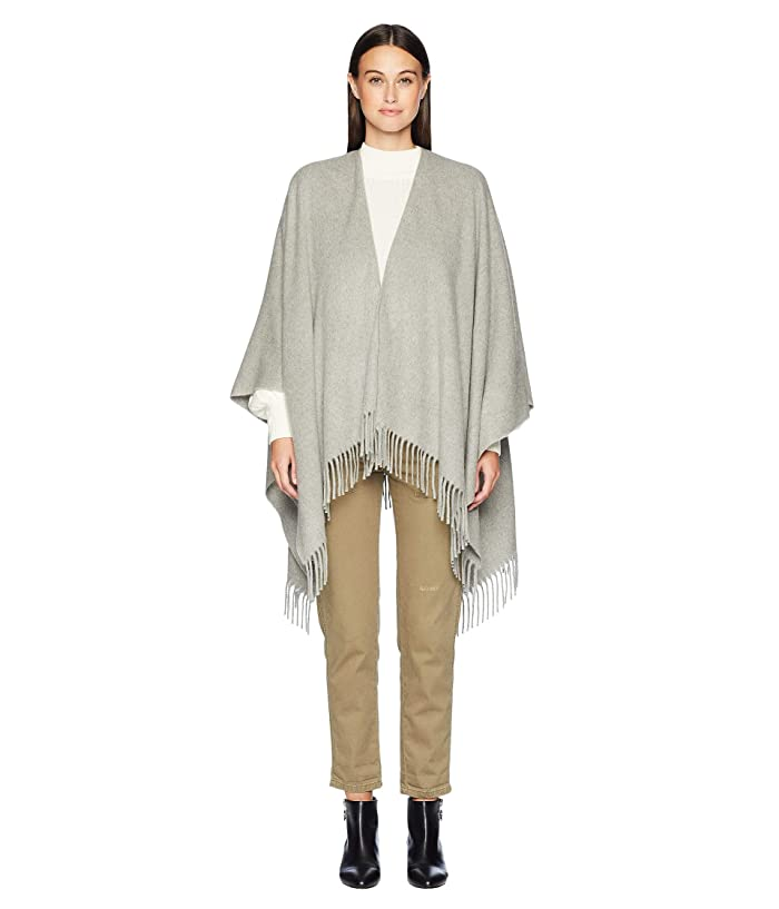 rag and bone  Cashmere Poncho (Heathered Grey) Scarves