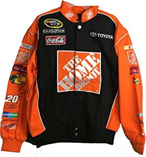 e782b089ef3e Tony Stewart  20 Home Depot Vintage Trackside Orange Black Adult Jacket