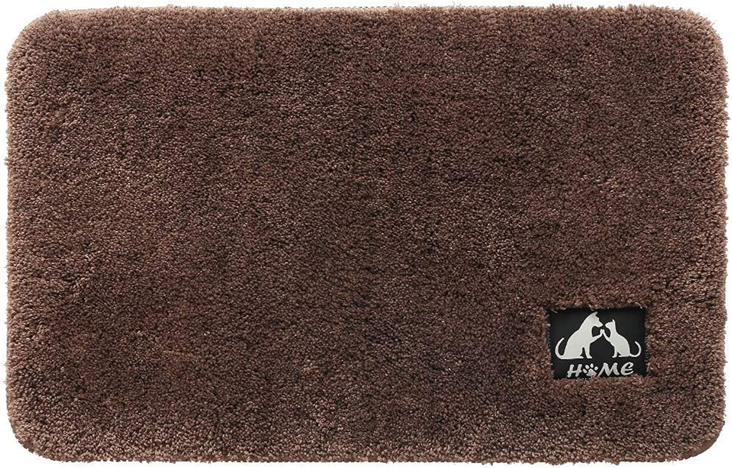 Welcome Mats Absorb Mud Mat Door Non Slip Backing Lower Profile Cotton and Microfiber Dirt Trapper Mat for Front Door Floor Entrance Clean Step Mat,Brown,80  120cm