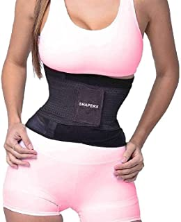 SHAPERX Waist Trainer Belt Corset Body Shaper Belly Wrap Trimmer Slimmer Compression Band for Weight Loss Workout Fitness