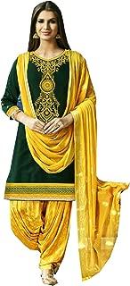 Fashion New Indian/Pakistan Wear Patiala Salwar Embroidered Cotton Salwar Kameez Suit for Woman