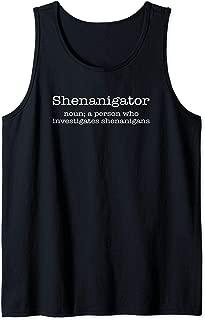 Shenanigator Definition St Patricks Day Funny Irish Gift Tank Top