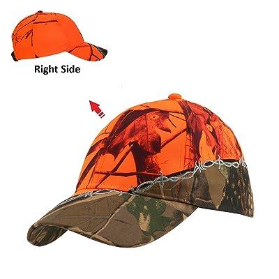 GearOZ Camo Blaze Orange Hunting Hat