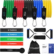 TOM SHOO Weerstandsbandenset, 14 stuks/17 stuks, workout, fijne trainingsbanden, loopbanden, buisbanden, deuranker, enkelb...