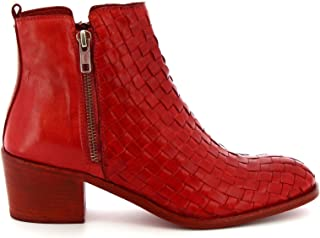 LEONARDO SHOES Luxury Fashion Womens 4977RED Red Ankle Boots | Season Permanent