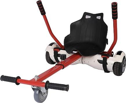 Sfeomi Hoverkart Silla para Hoverboard Electrico Hover Kart Ajustable para Patinete Eléctrico Asiento Kart Adaptarse a 6.5 8 10 Pulgadas Hoverboard Go ...