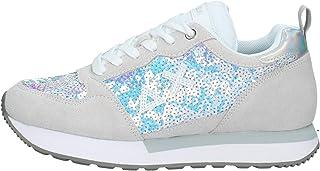 SUN68 Z30210 Sneaker BiancoPaillettes