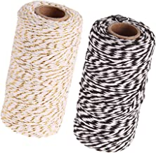 D/écorations de No/ël Lot de 2/rouleaux de 100 m Ficelle Bakers Twine combin/ée or Cuisson au four Ficelle de coton Tenn Well Travaux manuels Emballage de cadeaux