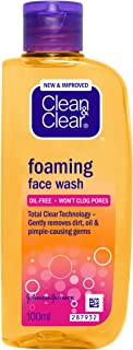 Clean & Clear Foaming Face Wash, 100ml
