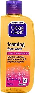 Johnson Johnson Clean and clear nettoyant moussant visage  sans huile 100 l inde