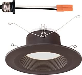 Designers Fountain EVL6733NBZ30 Bronze Trim Integrated LED Recessed Ceiling Light, 3000K, 90 CRI, 670 Lm, 5/6 inches