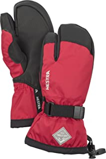 Hestra Ski Mittens for Kids: Waterproof C-Zone Cold Weather Winter 3-Finger Gloves