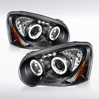 Autozensation For Subaru Impreza WRX Crystal Black LED Halo Projector Headlights Pair