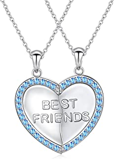 Best sterling silver bff necklaces Reviews