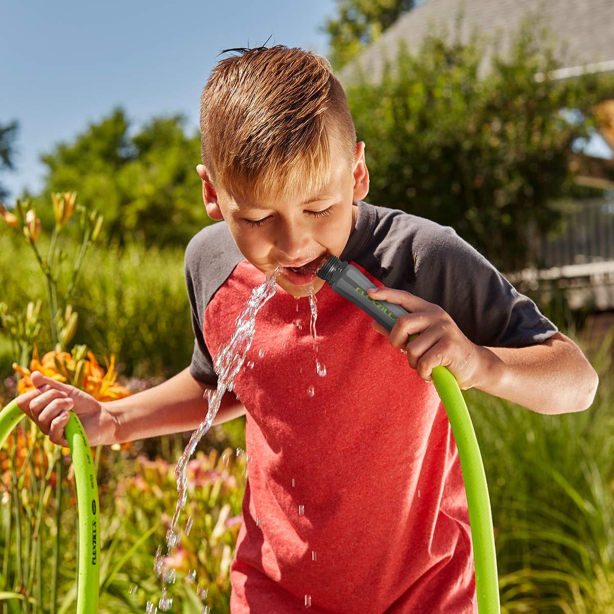Flexzilla HFZG5100YW Garden Lead-in Hose 5/8 in. x 100 ft, Heavy Duty, Lightweight, Drinking Water Safe, Green