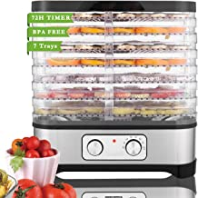 Food Dehydrator Machine for Jerky Meat Fruit Vegetable Beef, BPA Free, Temperature Control 250W...