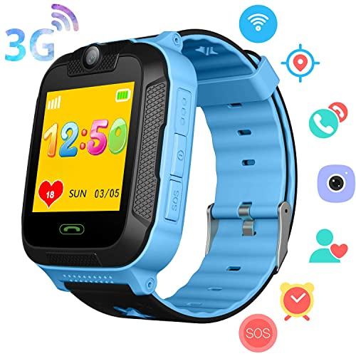 PalmTalkHome 3G Kids Smart Watch Phone for Boys Girls - GPS/Wi-Fi/