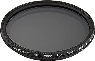 K&F Concept 可変式NDフィルター 62mm NDX 減光範囲ND2~ND400 薄枠設計 KF-NDX62