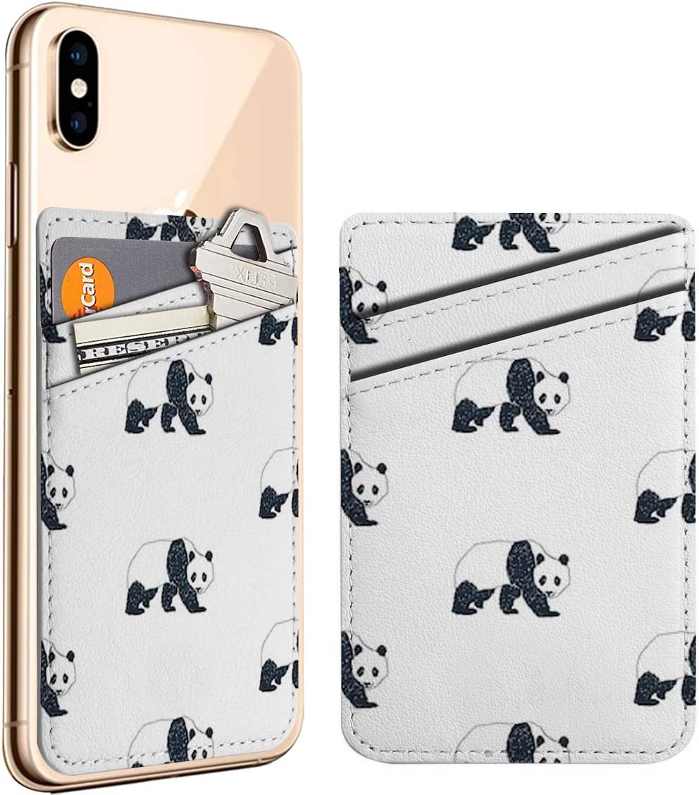 Limited Special Price Panda Cell Phone Stick On ID Fort Worth Mall Leather Card Holder Credit Wallet