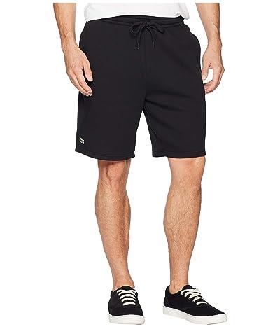 Lacoste Sport Fleece Shorts (Black) Men