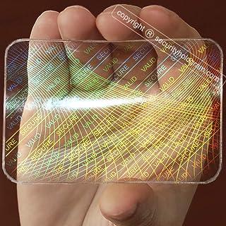 Lot de 25 autocollants Hologramme d'identification horizontale ou verticale avec technologie Micro Secure Technology SHID-...