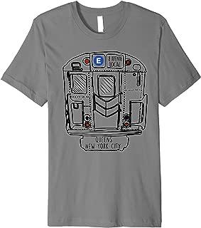 New York City Subway Queens E Train Premium T-Shirt