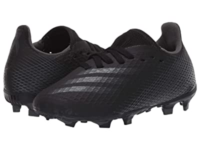adidas Kids X Ghosted.3 FG J Soccer (Little Kid/Big Kid) (Core Black/Grey Six/Core Black) Kids Shoes