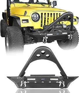 u-Box Jeep TJ Stinger Front Bumper w/Winch Plate & LED Lighting for 1997-2006 Jeep Wrangler TJ