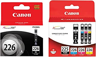 Canon PGI 225 / CLI 226 5-Pack Genuine OEM Ink Cartridges Full Set CYMK,BK