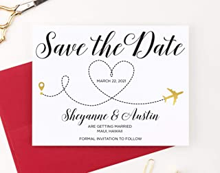 Destination Save the Dates for Weddings, Save The Date Destination Wedding, Your choice of Quantity and Envelope Color