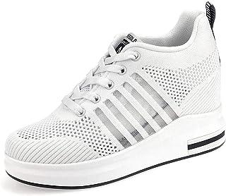 AONEGOLD Femme Baskets Compensées Chaussure Tennis de Sport Gym Fitness Respirantes Sneakers 8.5cm