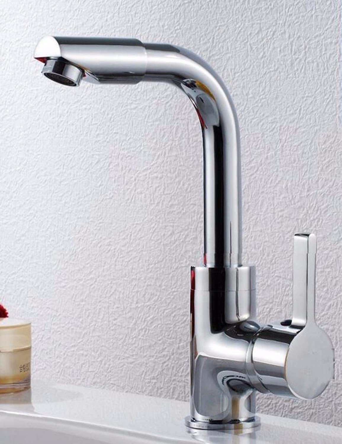 LHbox Basin Mixer Tap Bathroom Sink Faucet Wash Basin mixer, basin sink single hole and cold water on tap, the sink full brass swivel Faucet