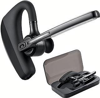 BINDEN Manos Libres Ejecutivos K10 Auricular Inalambrico Bluetooth 4.1 con Micrófono y Conexión Dual a 2 Dispositivos Batería hasta 7 horas Audifono InEar Compatible con iOS y Android, Botón Mute para Silenciar Llamadas Incluye Estuche de Acrílico, Negro