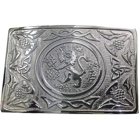 Scottish Kilt Belt Buckle Lion Ramapnt Silver Finish/Highland Belt Buckle/Lion Rampant Celtic Belt Buckle