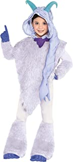 Smallfoot Meechee Costume for Girls, Size Small, Includes a Furry White Poncho, Leggings, and Blue Gloves